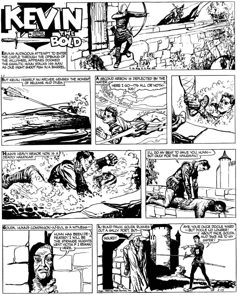 Söndagssidan från 13 februari 1955. ©NEA