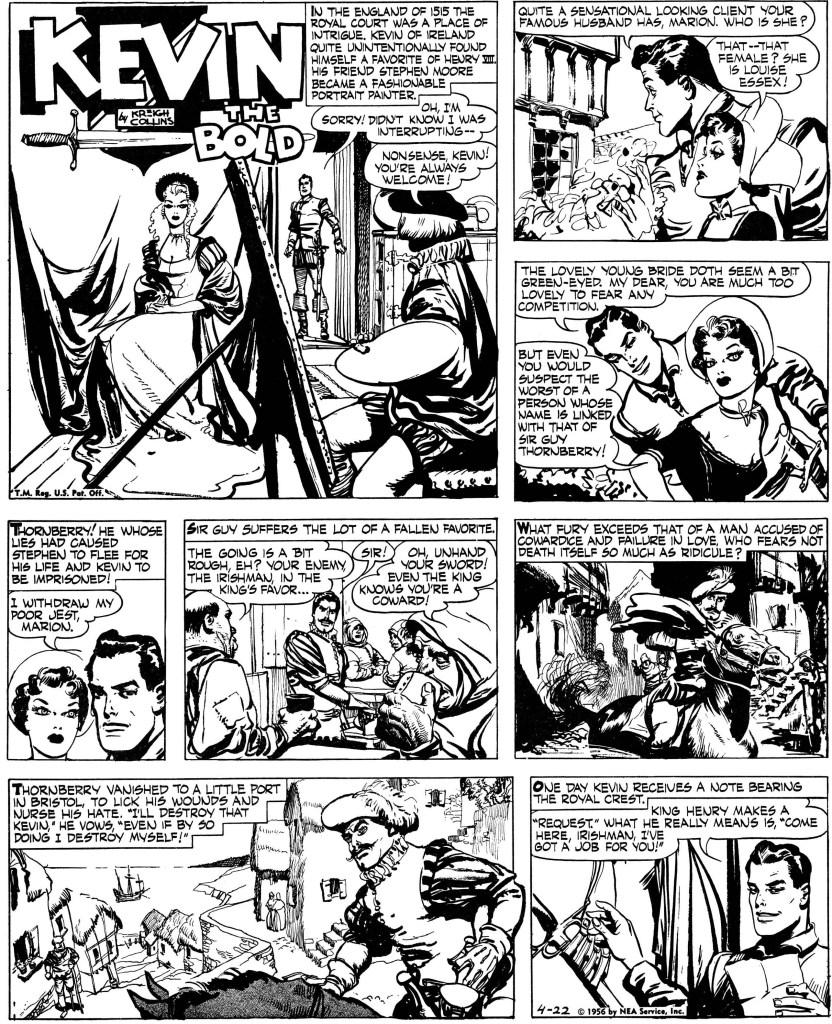 Inledande söndagssida från 22 april 1956. ©NEA