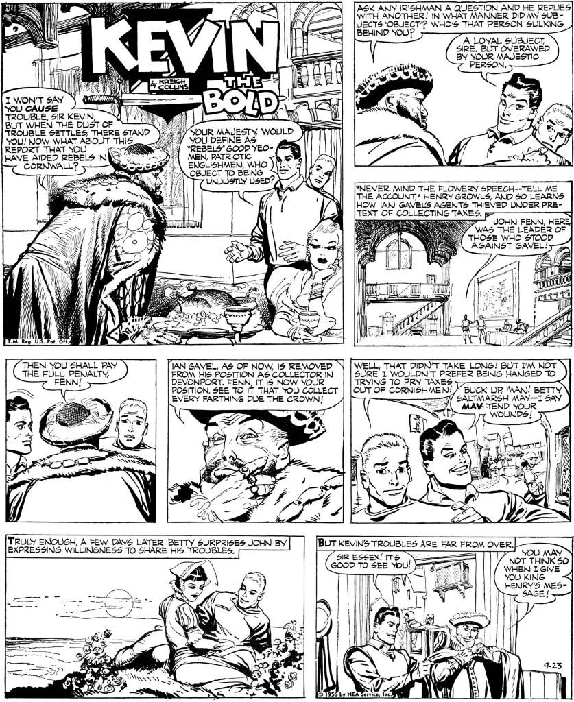 Söndagssidan från 23 september 1956. ©NEA