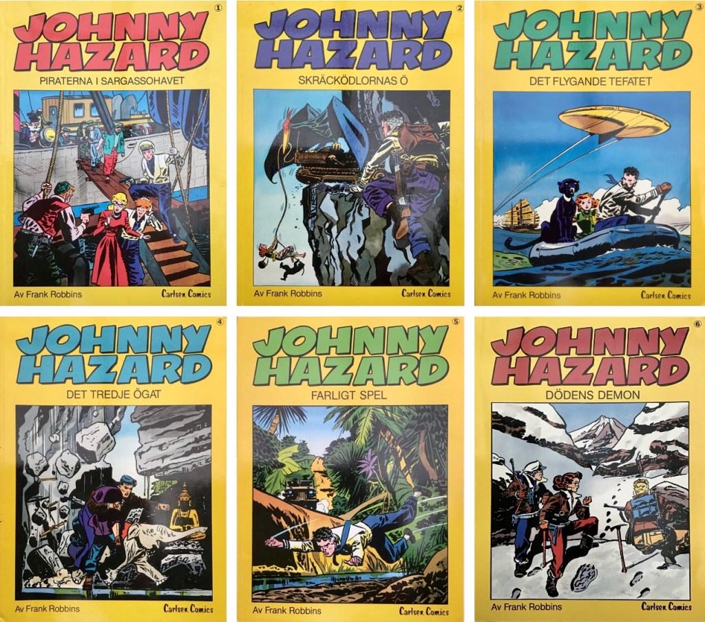 Det utkom sex seriealbum med Johnny Hazard (1983-86). ©Carlsen
